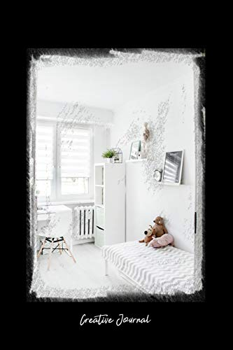 Creative Journal: Dot Grid Journal - Child Bedroom White Minimal Teddy Bear Bed House - black Dotted Diary, Planner, Gratitude, Writing, Travel, Goal, Bullet Notebook - 6x9 120 pages