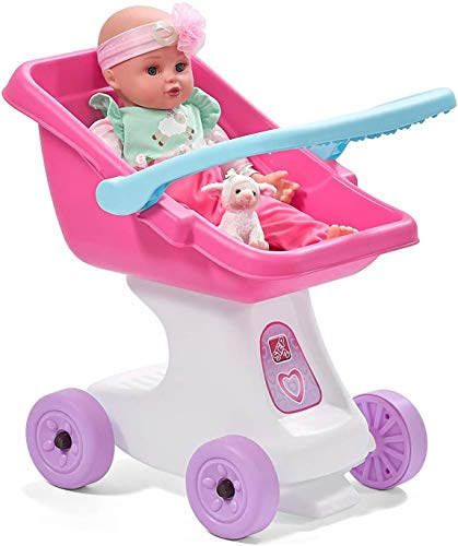 Step2 Love and Care Doll Stroller Toy, Off White/Pink