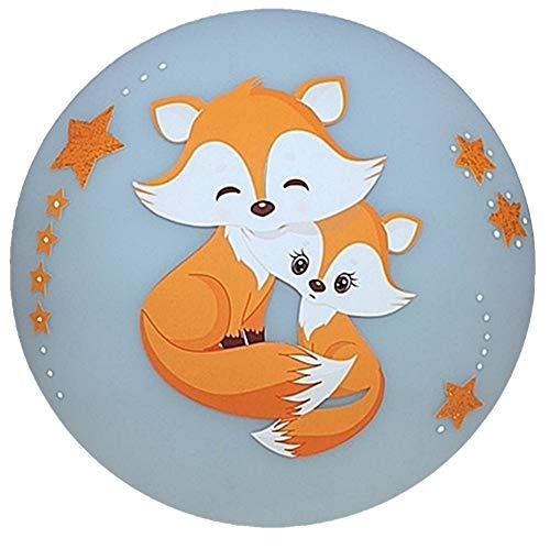 Deckenleuchte/Wandlampe Kinder * Fuchs Fox orange * auch LED - mit/ohne Name