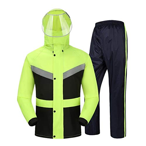 GUJOJO Outdoor Waterproof Jacket Suit For Men's Wind And Rain - Sports And Leisure Jackets For Sports, Leisure, Hiking And Jogging(Size:XXL)