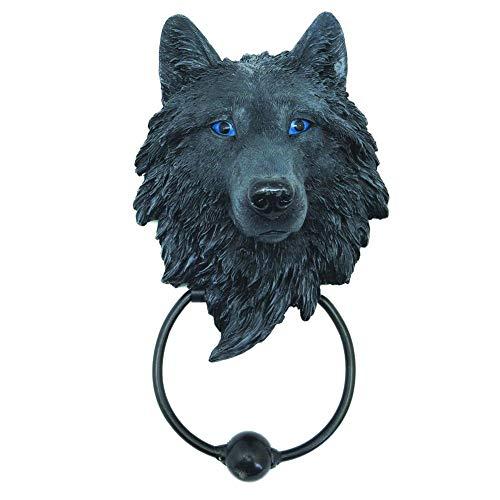 Nemesis Now 22.8cm Door Knocker Dark Guardian Wolf 22,8 cm Türklopfer, Polyresin, Schwarz, Einheitsgröße