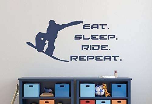 Snowboarden decor snowboarden wandtattoo Shred Wandtattoo Snowboarden Sticker Eat Sleep Ride Repeat