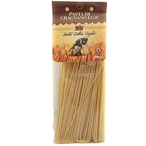 Spaghetti di Gragnano IGP | Antiche Fattorie Templari | Eccellenza Campana | Trafila Bronzo | Pasta Tipica della Cucina Partenopea | Tradizione Napoletana | 100% Grano Italiano | Idea Regalo (3KG)
