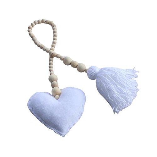 Sharplace Alzapaños de Cortina Hebilla Dosel Correra Decorativo Complimentos Colgante Cómodo - Corazón Blanco