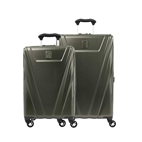 Travelpro Maxlite 5-Hardside Spinner Wheel Luggage, Slate Green, 2-Piece Set (21/25)