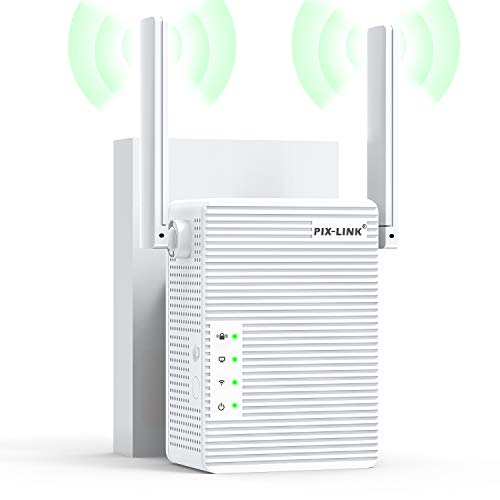Repetidor WiFi, 300Mbps Extensor WiFi, Amplificador WiFi 2.4GHz con Repertidor/Ap Modo y la función WPS, 1 Puerto Fast Ethernet Wireless Amplificador, Blanco