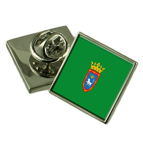 Select Gifts Pamplona España Bandera Insignia de Solapa Cuadro Grabado