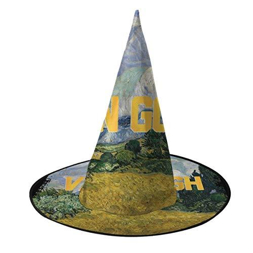 NUJSHF Van Gogh Masters Collection - Sombrero de Bruja Inspirado en Halloween, Unisex, Disfraz para Vacaciones, Halloween, Navidad, Carnaval, Fiesta