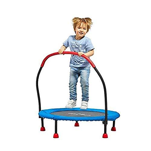 Trampolin Brincolin para Niños y adultos Mini trampolín for niños y adultos de 36 pulgadas Rebounder el trampolín con la barandilla y la seguridad de la cubierta del cojín redondo trampolín de salto d