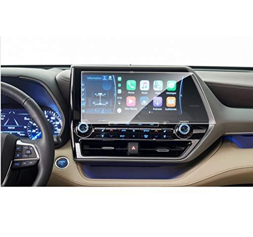Wonderfulhz Protector de pantalla compatible con Toyota Highlander 2020 2021 pantalla táctil de 12,3 pulgadas, platino, antiarañazos, resistente a los golpes, vidrio templado de alta calidad.