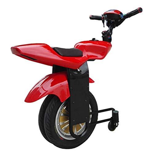 XYDDC Elektro-Einrad Scooter Selbst Balancing 500W Erwachsene Einzel-Rad-Motorrad mit Twin Wheel, mit Stützrad und Bluetooth-Audio