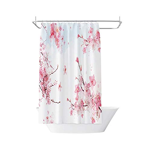 Douchegordijn Extra lang Digital Print Fabric Shower Curtain 180cmX 200cm - Cherry Blossom
