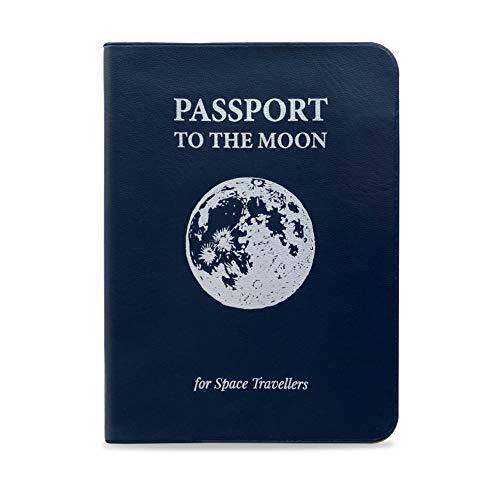 Designer Souvenirs   Funda para Pasaporte para Mujer y Hombre   Ideal para Viajes   con Bolsillos Interiores para Otros Documentos o Tarjetas   Portadocumentos HechodePU  ColecciónCosmic Lovers