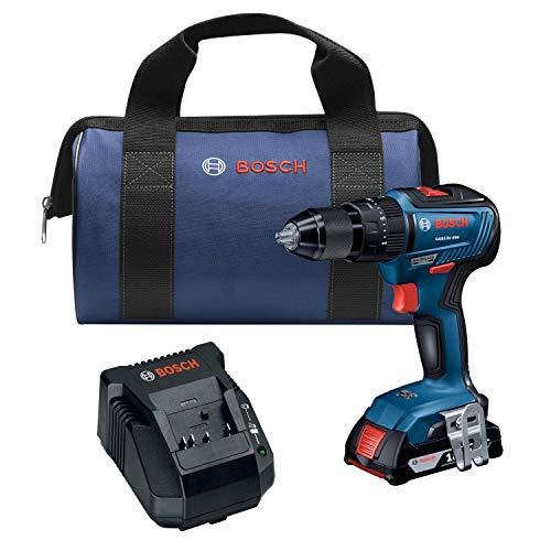 Bosch GSB18V-490B12 18V EC Brushless 1/2 In. Hammer Drill/Driver Kit with (1) 2.0 Ah SlimPack Battery