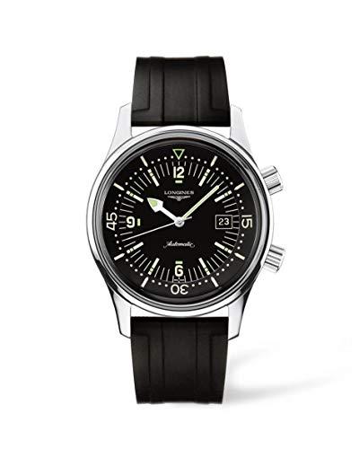 [ロンジン] 腕時計 ロンジン レジェンドダイバー 自動巻き L3.674.4.50.9 メンズ 正規輸入品 ブラック