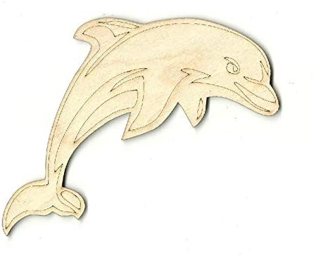 Dolphin - Laser Cut Out SALENEW very popular Unfinished DLET Craft Wood Shape Supply Finally resale start