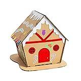Happyyami casa de Pan de Jengibre iluminada de Navidad Kits de Material de Bricolaje de Navidad decoración de Adornos de Escritorio de Navidad 20x20x20cm Tipo 3