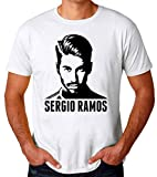 Wicked Design Sergio Ramos Portrait Camiseta para Hombres X-Large