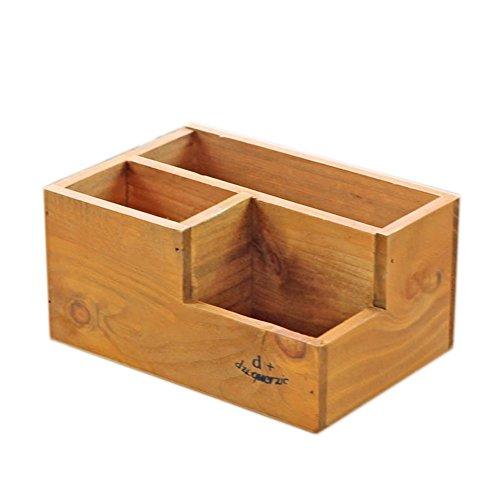 Milopon Aufbewahrungskiste Holzkiste Holzbox Ordnungsbox mit Schublade Vintage Dekokiste Allzweckkiste Holzkasten