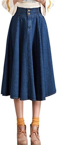 A line jean skirt _image1