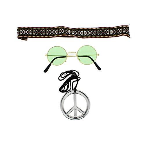 Zac's Alter Ego® - Kostüm-Set für schnelle Hippie-Verkleidung