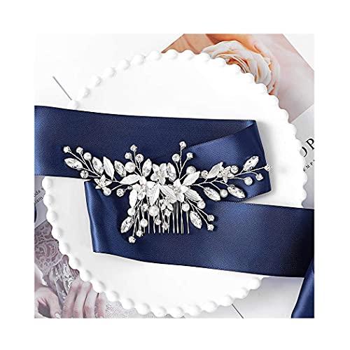IYOU - Peineta de novia con brillantes brillantes y cristales brillantes para...