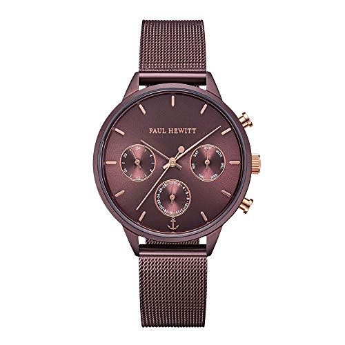 PAUL HEWITT Reloj de pulsera para mujer en acero inoxidable Everpulse Dark...