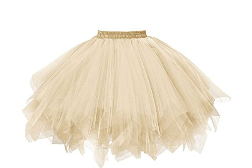 Musever MuseverBrand 50er Vintage Ballet Blase Firt Tulle Petticoat Puffy Tutu Champagne Small/Medium