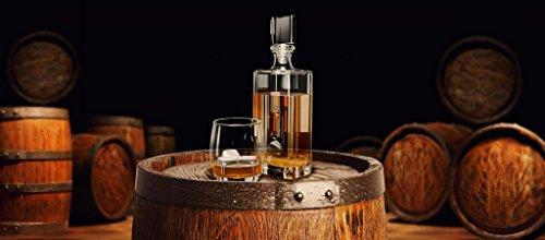Whisky Steine, Wiederverwendbare Edelstahl Eiswürfel Set + Zange + Stoffbeutel   8 Metall Kühlsteine, Premium Bar Zubehör für alle Getränke, Cocktail Gin Whiskey   Geburtstag Geschenk Mann & Frau - 4