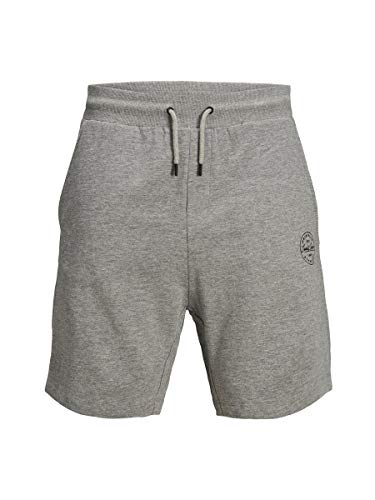 JACK & JONES Herren Sweatshorts Baumwoll MLight Grey Melange