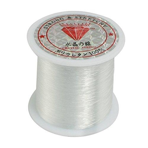 uxcell 0.2mm Diameter Clear Nylon Fish Fishing Line Spool Beading String