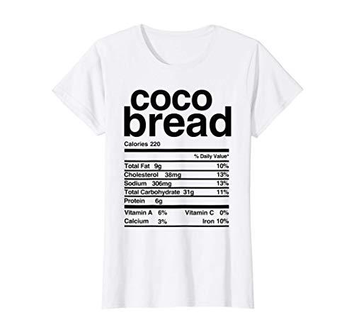 Womens Jamaican Coco Bread Nutritional Value T-Shirt