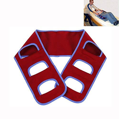 Transferbrett-Gurt-Rollstuhl-Rutsches Medizinisches Anhebendes Riemen-, Patienten-Sorgfalt-Sicherheits-Mobilitäts-Hilfsmittel Für Ältere Behinderte (Rot)