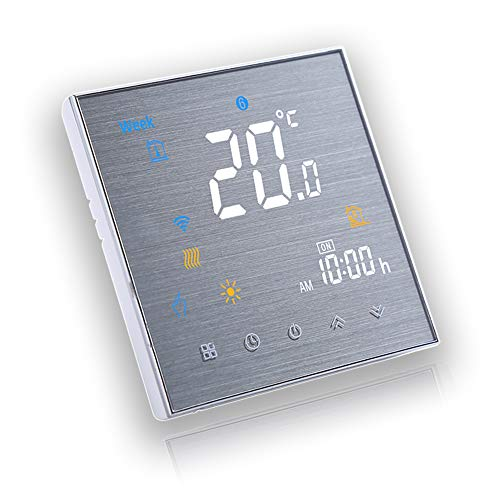 BecaSmart Serie 3000 3A LCD Touchscreen Wassererwärmung Intelligente Programmiersteuerung Thermostat mit WIFI-Verbindung (Wassererwärmung, Gebürstete SS(WIFI))