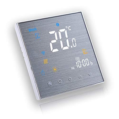 BecaSmart Serie 3000 16A LCD Touchscreen Elektroheizung Intelligente Programmiersteuerung Thermostat mit WIFI-Verbindung (Elektroheizung, Gebürstete SS(WIFI))