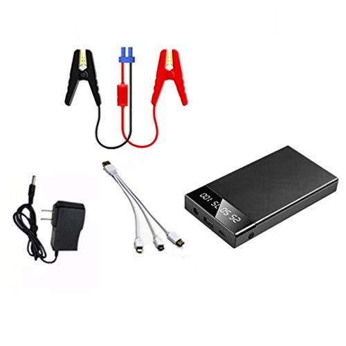 Starter de Salto de Coches de Litio, arrancador de batería portátil de 12V, Refuerzo de batería con luz LED incorporada, Banco de energía portátil con Carga rápida USB,10000 ma Standard