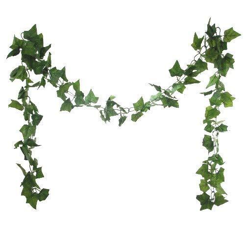 FS 8ft Green Artificial Chainlink Ivy Garland - Foliage Greenery Wedding Garden