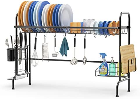 Cambond Over The Sink Dish Drying Rack Large Stainless Steel Dish Organizer Racks Non Slip Sink product image