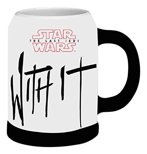 STAR WARS Episode VIII The Last Jedi Beer Mugs, Ceramic, White, 11x16x14 cm