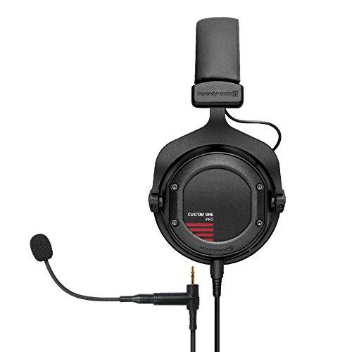 beyerdynamic Custom One PRO PLUS 16 Ohm Kopfhörer schwarz und beyerdynamic Headset Gear (Mikrofon Erweiterung für Custom Serie) schwarz