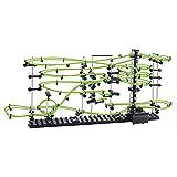 yxx Marble Correr Resplandor en la Oscuridad 3ª generación Roller Coaster Set Edificio Goldberg Máquina Kit DIY Toy Rail Nivel 3-8 Pistas extremas con Bolas de Acero para niños y Adultos