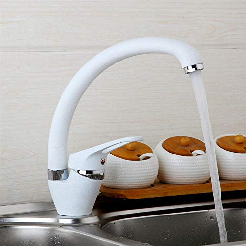 Badkamer wastafel kranen keuken wastafel draaibare sleeptouw soort kleur wit en kaki schilderij afgewerkte keuken kraan enkele handvat mixer