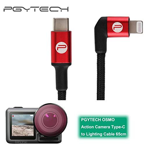 ETbotu Type C op Lightning-kabel voor PGYTECH OSMO accessoires voor action camera/zaklamp, 65 cm