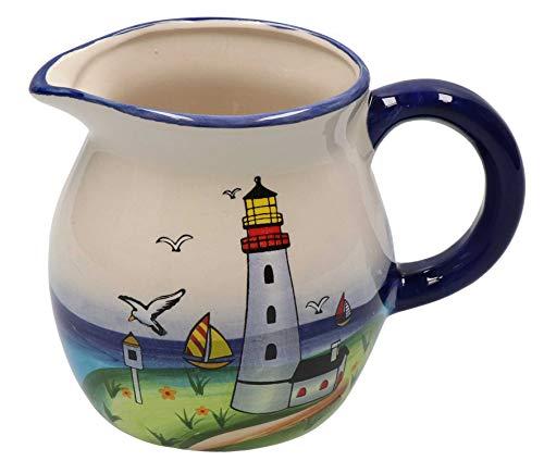 Tony Brown - Maritimes Leuchtturm Geschirr aus Keramik (Milchkanne)