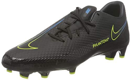 Nike Unisex Phantom GT Academy MG Soccer Shoe, Black/Black-Cyber-Light Photo Blue, 40 EU