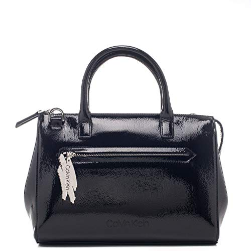 Calvin Klein - Contoured Sml Tote, Bolsos totes Mujer, Negro (Black), 1x1x1 cm (W x H L)