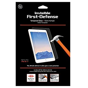 Qmadix Invisible First-Defense Apple iPad Air 2-9H Tempered Glass Screen Protector/Shield
