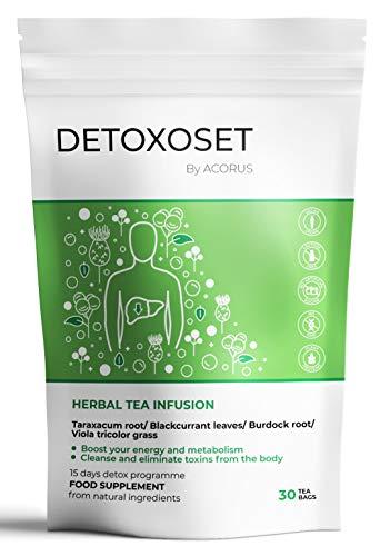ACORUS Detoxoset Kräutertee ● 15 Tage Tee Programm ● Der ideale Begleiter für deinen aktiven und nachhaltigen Lebensstil (2g x 30)