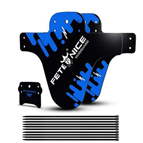 FETESNICE Funda de protección para Guardabarros de Bici contra Salpicaduras Mud Guard Plus 26' 650B 27,5' 29' MTB (2 Piezas), Azul