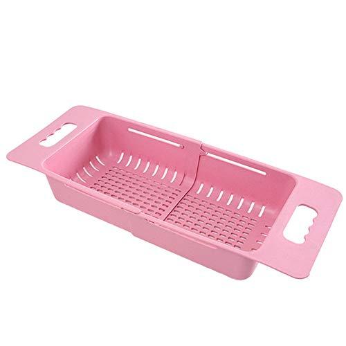 Yagoal Colapasta Colino Piccolo Colino Sink Cestello Setaccio Riso Gadget da Cucina per La Cottura Pink,One Size